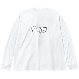 Tシャツうさみ Big silhouette long sleeve T-shirts