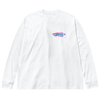 カラフルアロワナ Big silhouette long sleeve T-shirts