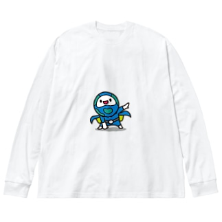 モッチブルーコレクション Big silhouette long sleeve T-shirts