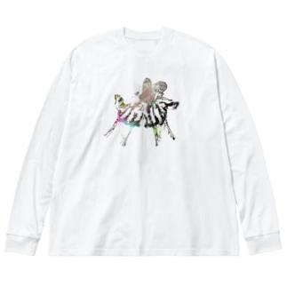 羽化 Big silhouette long sleeve T-shirts