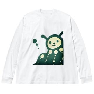 とろりん Big silhouette long sleeve T-shirts