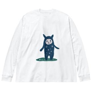 なみだくん Big silhouette long sleeve T-shirts