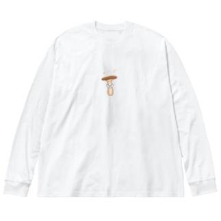 襟ンギ Big silhouette long sleeve T-shirts