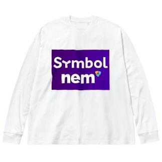 symbolnem大 Big silhouette long sleeve T-shirts