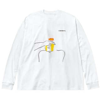 泣く人 あやす人 Big silhouette long sleeve T-shirts