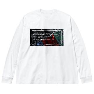 電子基板  Big silhouette long sleeve T-shirts