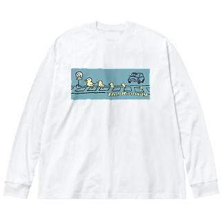 the birdway Big silhouette long sleeve T-shirts