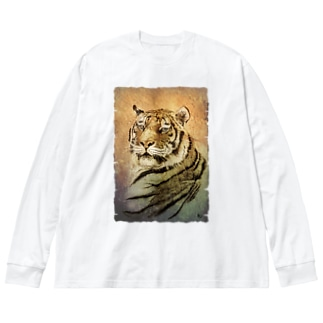 ミライ Big silhouette long sleeve T-shirts