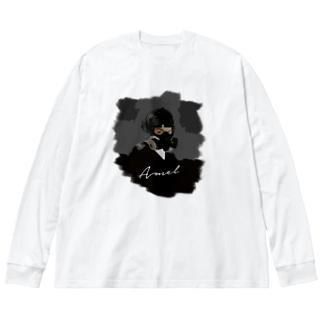 Sk8ersLoungeのamel TEE Big silhouette long sleeve T-shirts