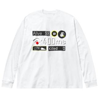 ネガティブアイコン Big silhouette long sleeve T-shirts