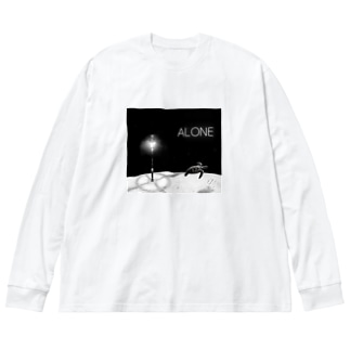 ALONE Big silhouette long sleeve T-shirts