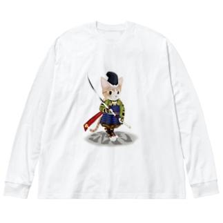源平戯画 : 伊勢義盛 Big silhouette long sleeve T-shirts