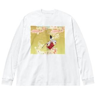 白拍子 Big silhouette long sleeve T-shirts