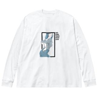 MATA HENNA TOKORO MITERU DESHO Big silhouette long sleeve T-shirts