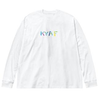 KYAFカラフル Big silhouette long sleeve T-shirts