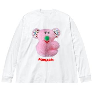 甘えんぼポワラ Big silhouette long sleeve T-shirts