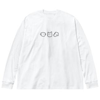 いぬ Big silhouette long sleeve T-shirts