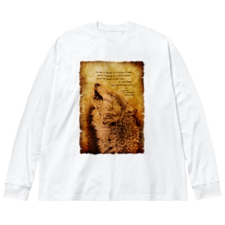 Howling Wolf 2 Big silhouette long sleeve T-shirts