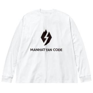 MHT_LOGO - Black Big silhouette long sleeve T-shirts