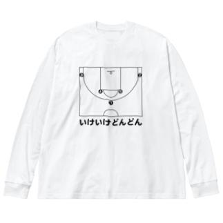 いけいけどんどん Big silhouette long sleeve T-shirts