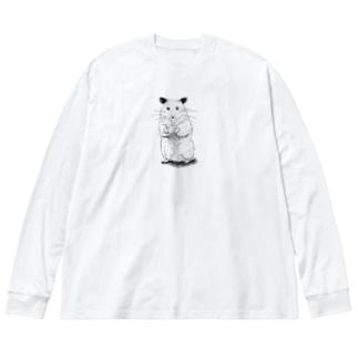 ハムとともに~with ham~ Big silhouette long sleeve T-shirts