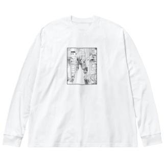 ごちゃ Big silhouette long sleeve T-shirts