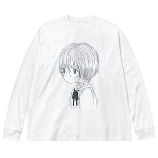 isee ck you Big silhouette long sleeve T-shirts