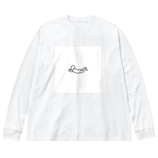 びゅーん赤ちゃん Big Silhouette Long Sleeve T-Shirt