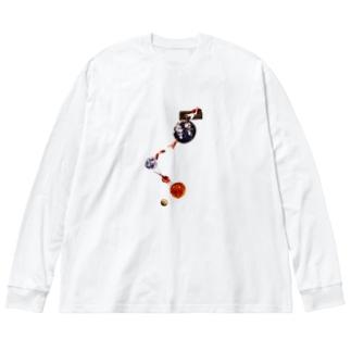 コスモマーレくん Big silhouette long sleeve T-shirts