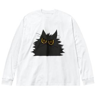 鬼気迫る時雨 Big silhouette long sleeve T-shirts