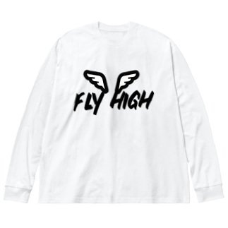 FLY HIGH Big silhouette long sleeve T-shirts