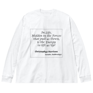 CCH名言 Big silhouette long sleeve T-shirts
