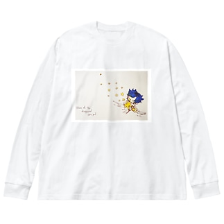 STAR colorful Big silhouette long sleeve T-shirts