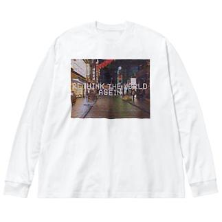 世界 Big silhouette long sleeve T-shirts