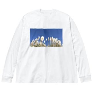 旅シリーズ 旻天 Big silhouette long sleeve T-shirts