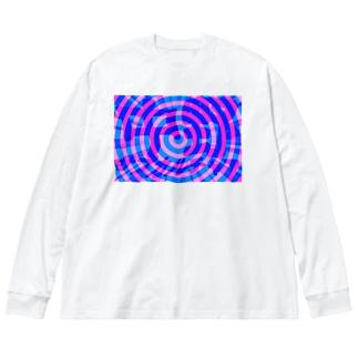 中野サブカルチャア(ぐるぐる) Big silhouette long sleeve T-shirts
