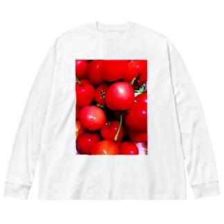 佐藤錦 Big silhouette long sleeve T-shirts