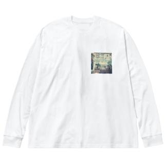 アメ村の階段 Big silhouette long sleeve T-shirts