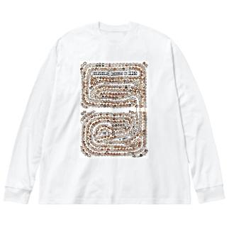 tate GURUGURU BEAGLES&DOGS Big silhouette long sleeve T-shirts