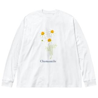 カモミール Big silhouette long sleeve T-shirts