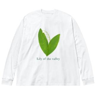 スズラン(濃ロゴ) Big silhouette long sleeve T-shirts