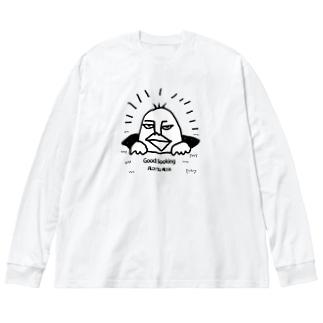 イケメン Big silhouette long sleeve T-shirts