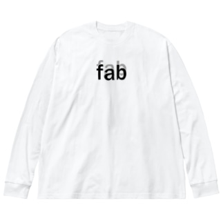 fab Big silhouette long sleeve T-shirts