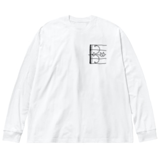 ドネコ(ハ音記号アルト) Big silhouette long sleeve T-shirts