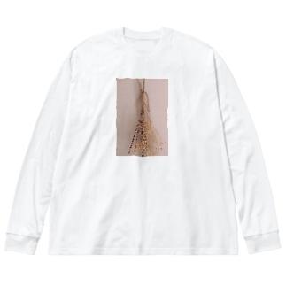 乾いたお花たち💐 Big silhouette long sleeve T-shirts