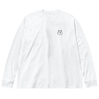 鬼おにぎり Big silhouette long sleeve T-shirts