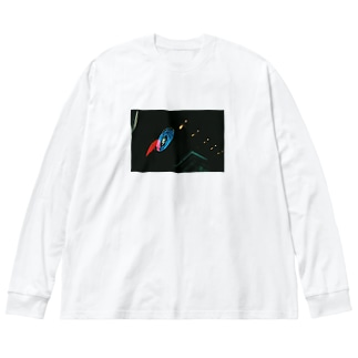 おみそ Big silhouette long sleeve T-shirts