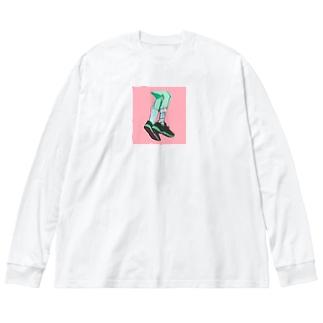 スニーカー🍫 Big silhouette long sleeve T-shirts