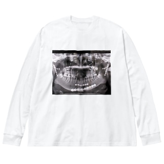 顔面骨折 Big silhouette long sleeve T-shirts