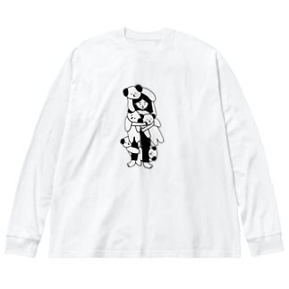 好きなものであふれてる Big silhouette long sleeve T-shirts